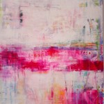 "Pink Veil I 77"" x 55"" I Acrylic and mixed media on Canvas"
