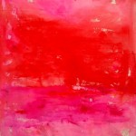"Red and Pink Abstraction I Acrylic on Canvas I 56"" x 49"""