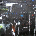 All The World's A Stage 52'' x 93'' Oil Acrylic on Canvas