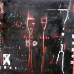 The Couple 52'' x 52'' Mixed Media on Canvas