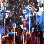 Abstract Expressionist Painting by Amadea Bailey