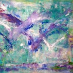 "Splash #2 I Acrylic and oil on Canvas I 67"" x 79""     Flight series"
