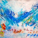 "La Vie I Acrylic and Oil stick on Canvas I 55"" x 78""    Flight series"