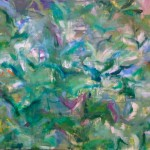 "Velvet Green I Oil on Canvas I 58"" x 74""   Flight series"