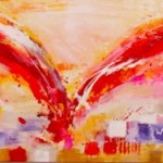 "Flight I Acrylic on Canvas I 24"" x 94"" (SOLD)"