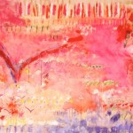 "Exuberance I 55"" x 102"" I Acrylic and oil stick on canvas"