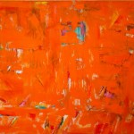 "Orange Abstraction I 58"" x 70"" I Oil and Acrylic on Canvas"