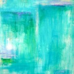 "Turquoise Dream #3 I 60"" x 30"" I Acrylic and Oil on Canvas SOLD"