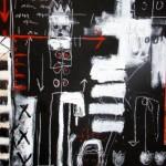 I am I am I am 50'' x 40'' Mixed Media on Canvas