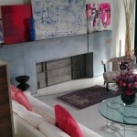 Amadea's paintings in a Cindy Crawford Photo Shoot