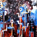 Black Tribe | 83'' x 68'' | Oil and Acrylic on Canvas